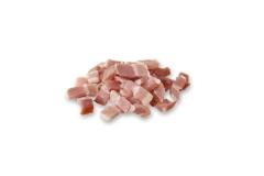 Poitrine de porc fumée crue